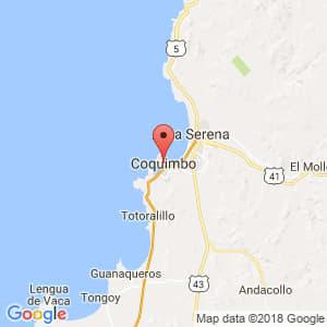 Localización de Coquimbo en Coquimbo