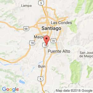 Localización de San Bernardo en Metropolitana de Santiago