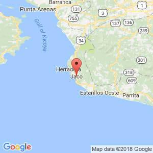 Localización de Jacó en Puntarenas