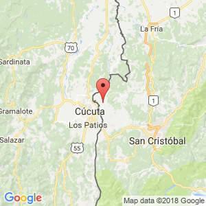 Localización de Ureña en Táchira