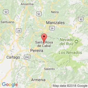 Localización de Santa Rosa de Cabal en Risaralda