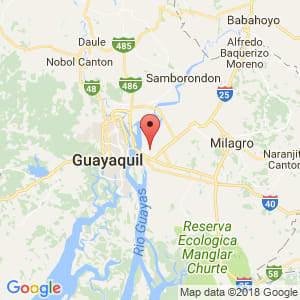 Localización de Durán en Guayas