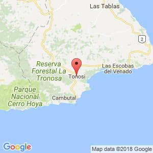 Localización de Tonosí en Los Santos