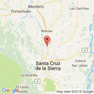 Localización de Valle Sánchez en Santa Cruz