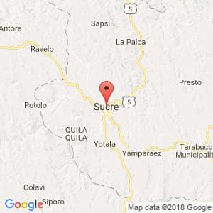 Localización de Sucre en Chuquisaca