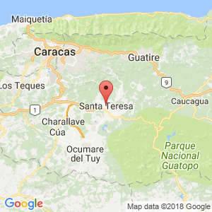 Localización de Santa Teresa del Tuy en Miranda