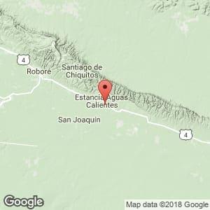 Localización de Aguas Calientes en Santa Cruz