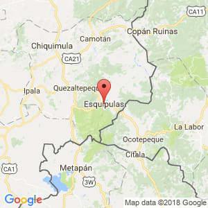 Localización de Esquipulas en Chiquimula