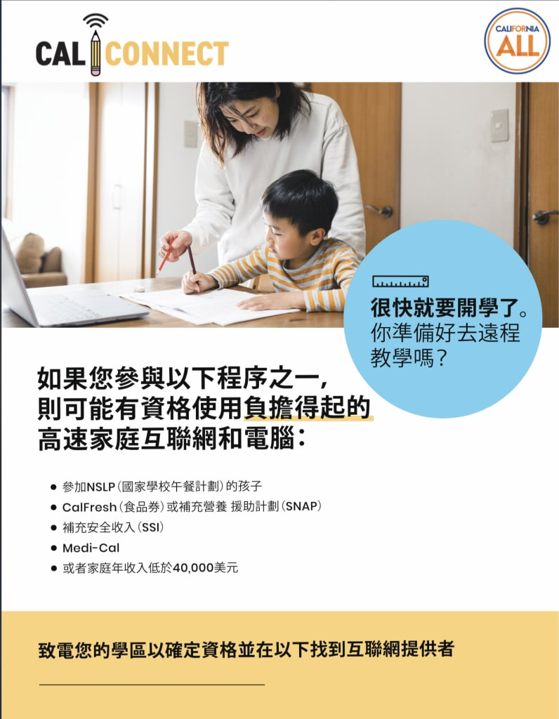 Mom and Young Son doing Homework_Flyer_Chinese