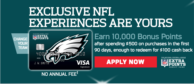EAGLES EXTRA POINTS CARD