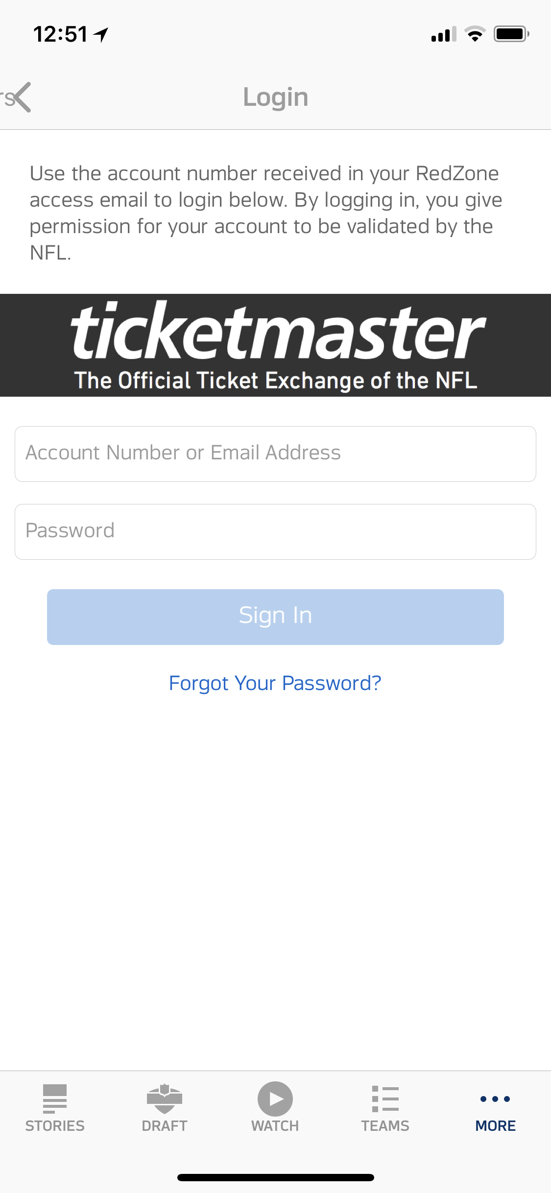 Ticketmaster Login
