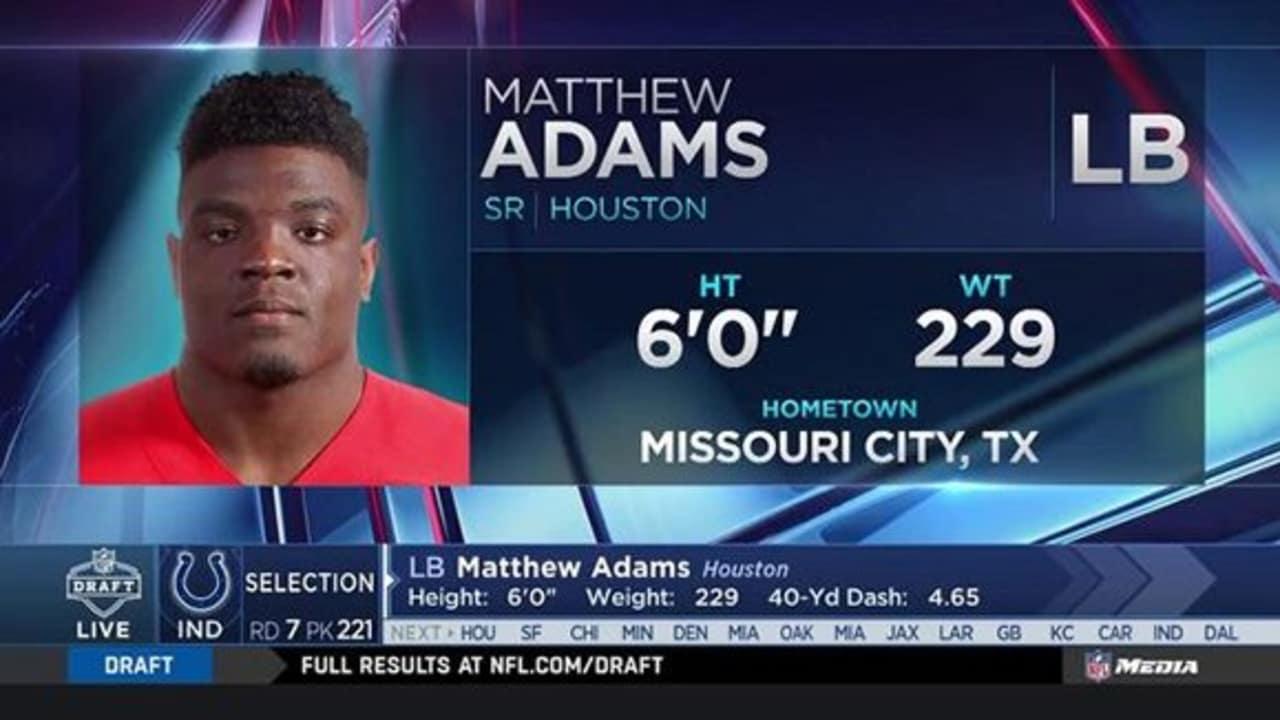 Colts select Matthew Adams No....