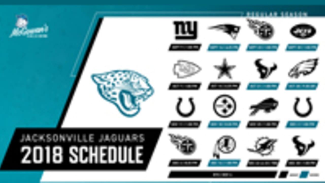 99d6cae8 Jacksonville Jaguars announce 2018 schedule
