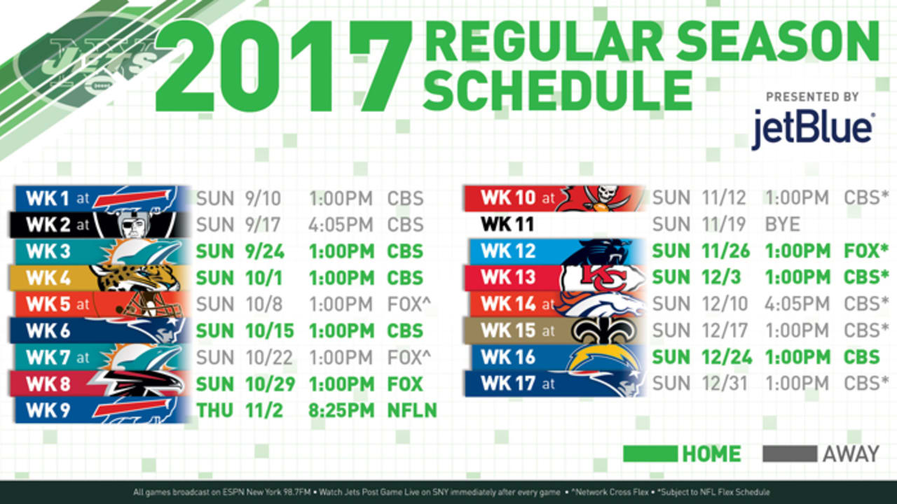 Jets' 2017 Schedule Is a Different Breed