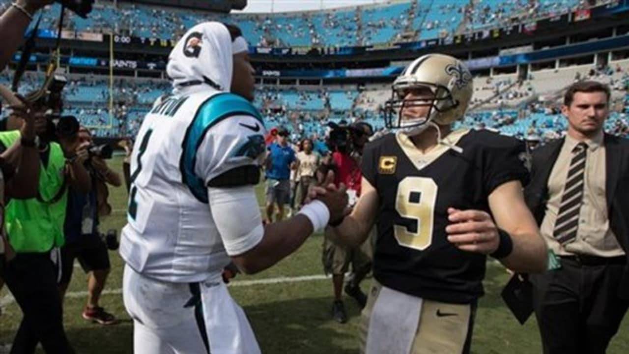 Who will have a better game  Carolina Panthers quarterback Cam Newton or  New Orleans Saints quarterback Drew Brees  16dc68983