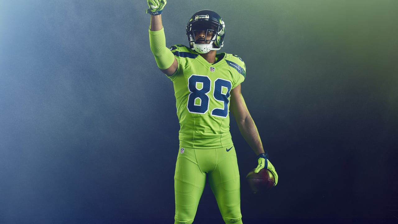 7ed577bd080 NFL Color Rush: Seahawks Introduce Action Green Uniform