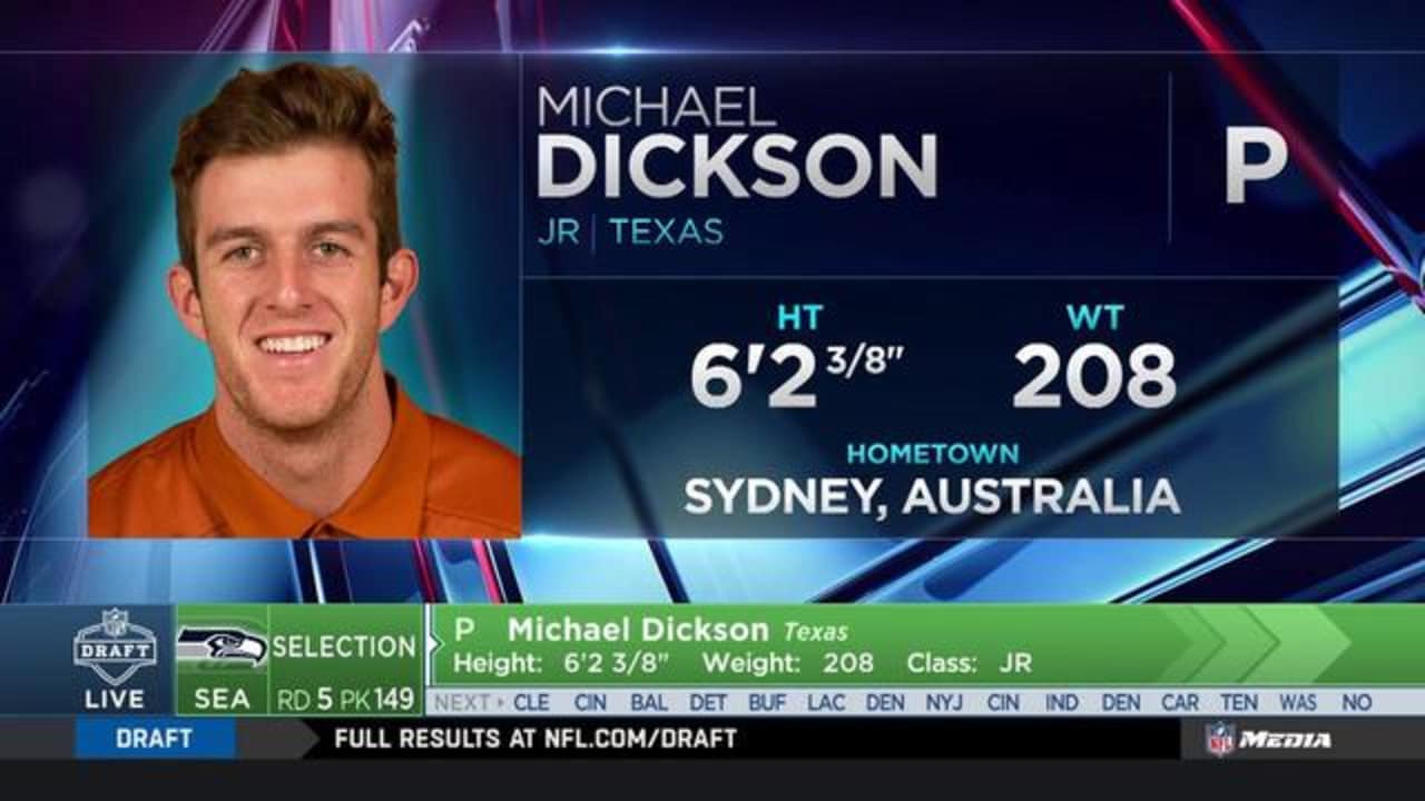951d1af1c Seahawks Select Texas Punter Michael Dickson No. 149 Overall In 2018 NFL  Draft