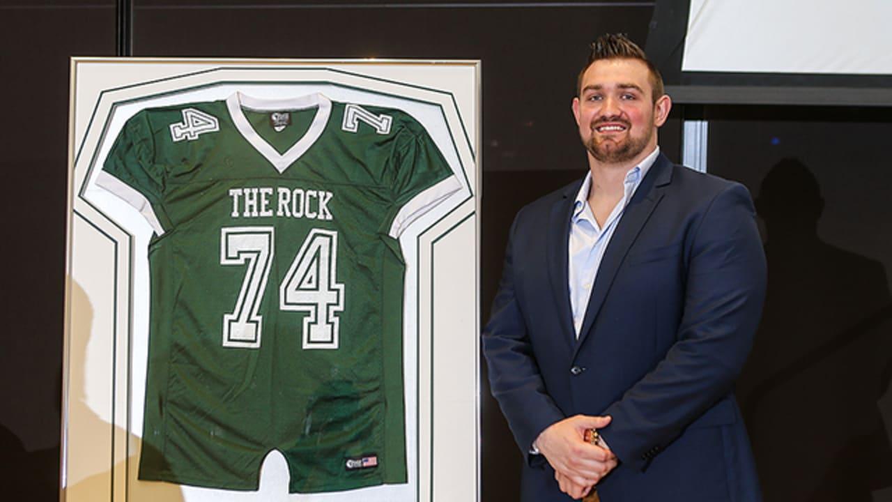 Brandon Fusco's Jersey Retired by Slippery Rock University