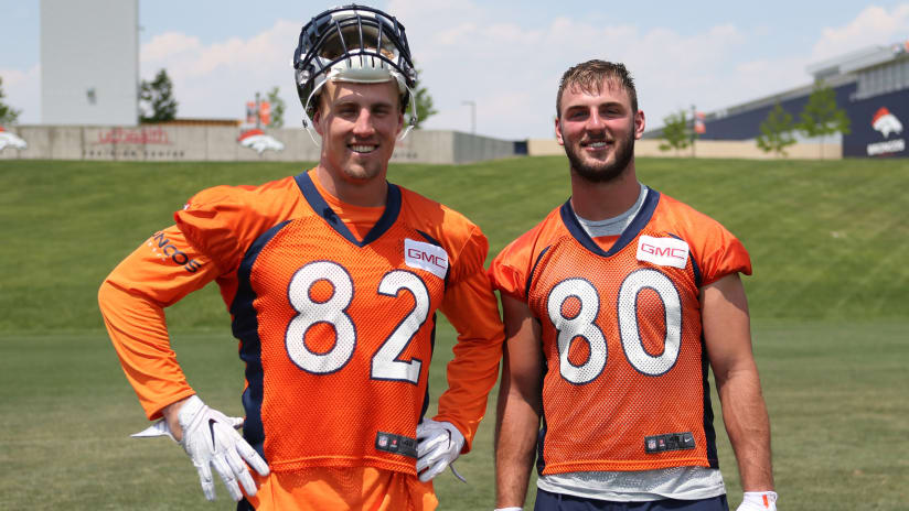 Image result for broncos training camp tight end