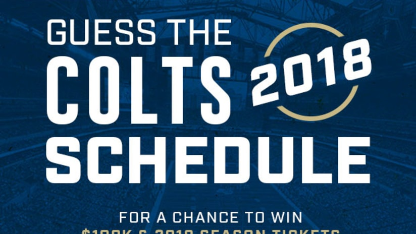 How To Get The Colts 2018 Schedule (And Win Colts Tickets)