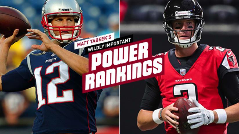 Matt Tabeeks Wildly Important NFL Power Rankings Patriots Falcons