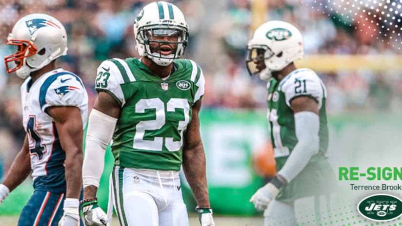 on sale 7a164 7bf27 Jets Re-Sign S Terrence Brooks