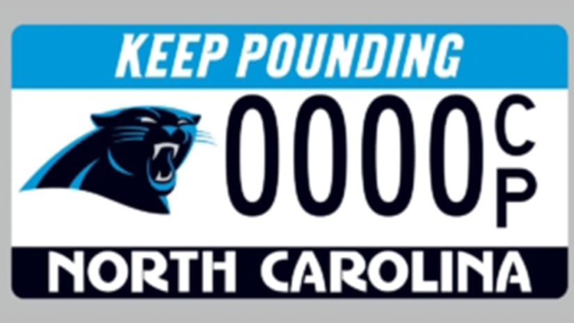 Keep Pounding License Plates The Carolina Panthers