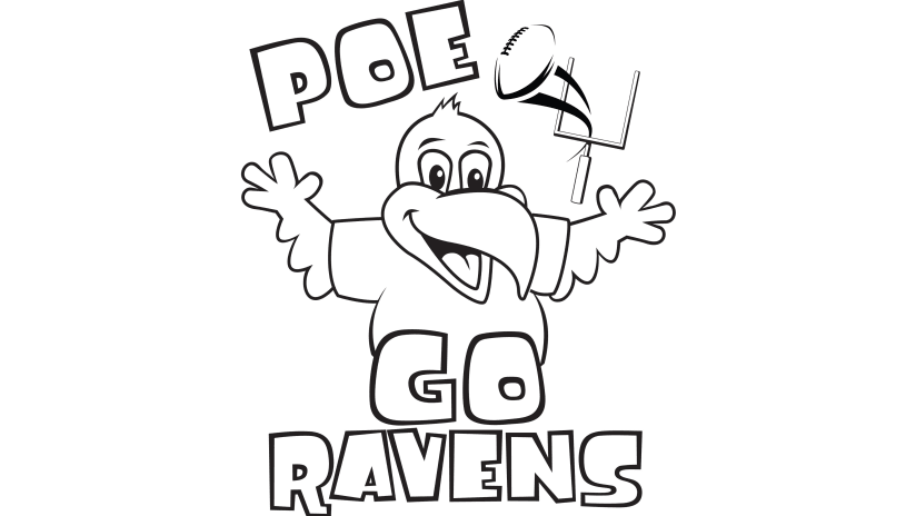 raven coloring pages Ravens Poe's Coloring Corner | Baltimore Ravens – baltimoreravens.com raven coloring pages