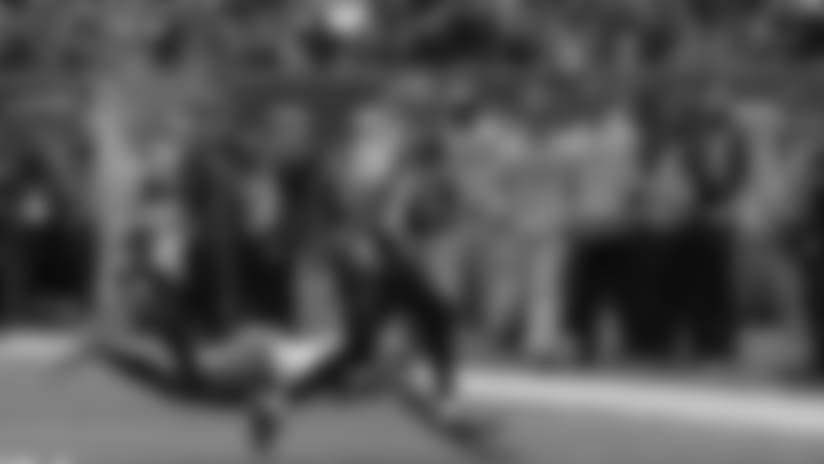 Dalton throws deep to Cody Core for a 50-yard gain