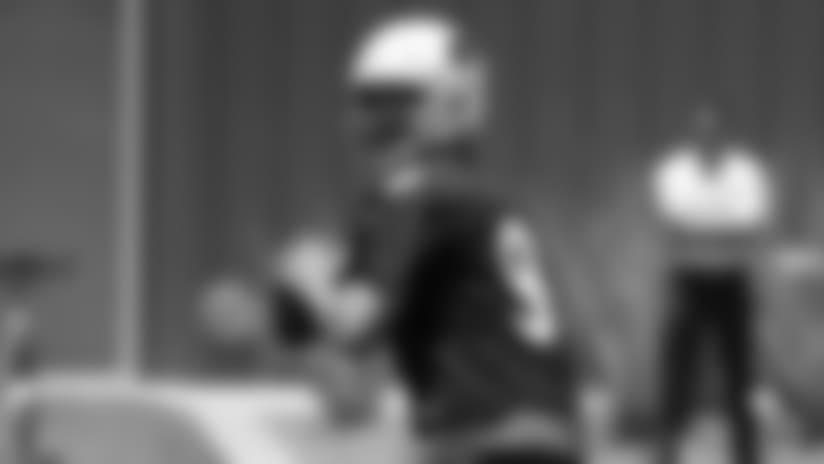 Quarterback Sam Bradford looks to throw a pass Tuesday at minicamp.