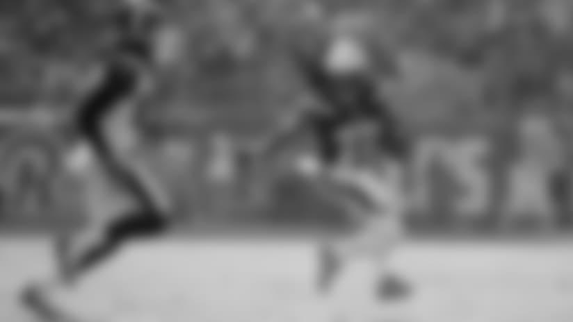 Jason Verrett intercepts Goff's pass