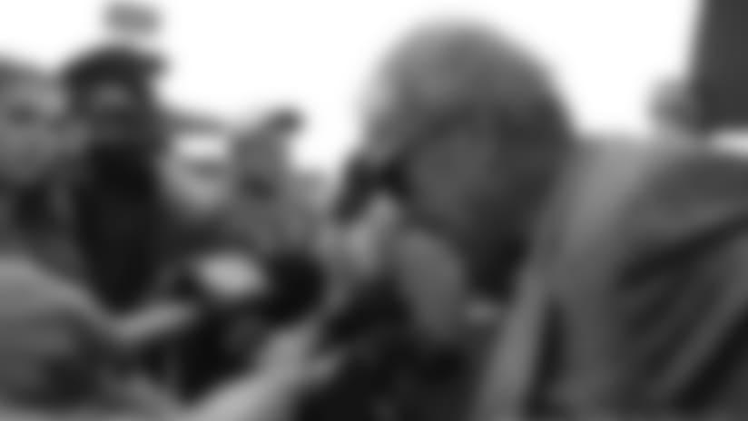 Jim Irsay Talks to Media