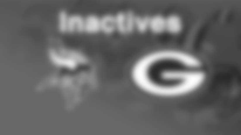 Five starters on inactive list for Packers