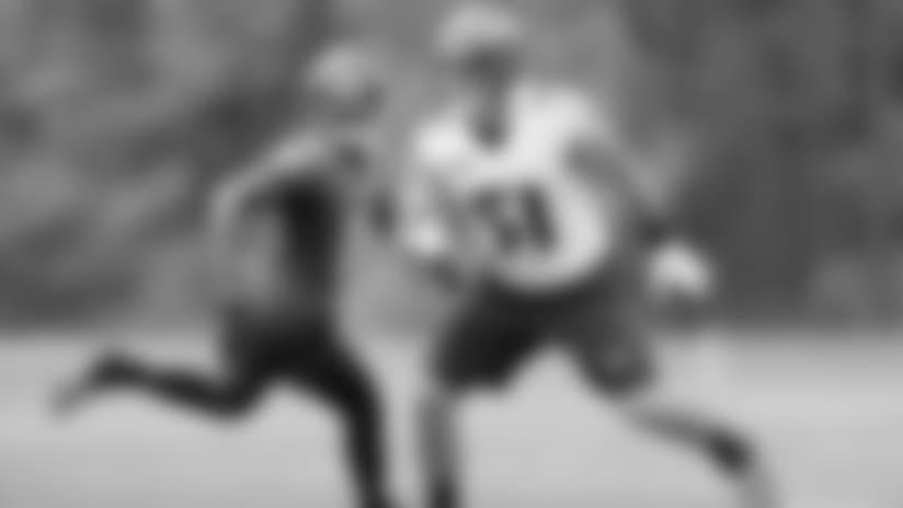 Camp Highlight: Correa Crushes Running Back on Blitz
