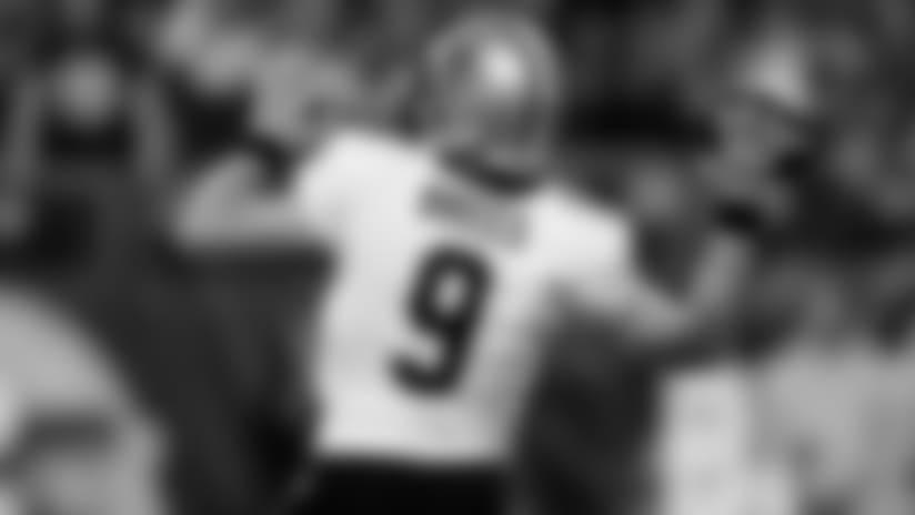 John DeShazier's New Orleans Saints helmet stickers from Vikings game