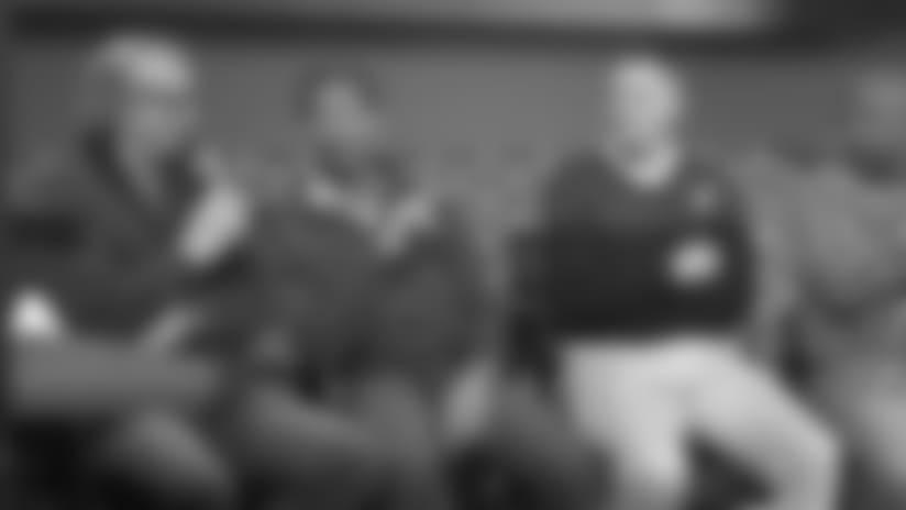 Jordan, Thomas and Millard Hold Super Bowl Week Q&A