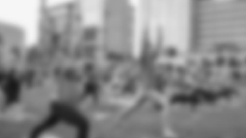 Vikings Women Host Yoga at U.S. Bank Stadium for Workout Wednesday