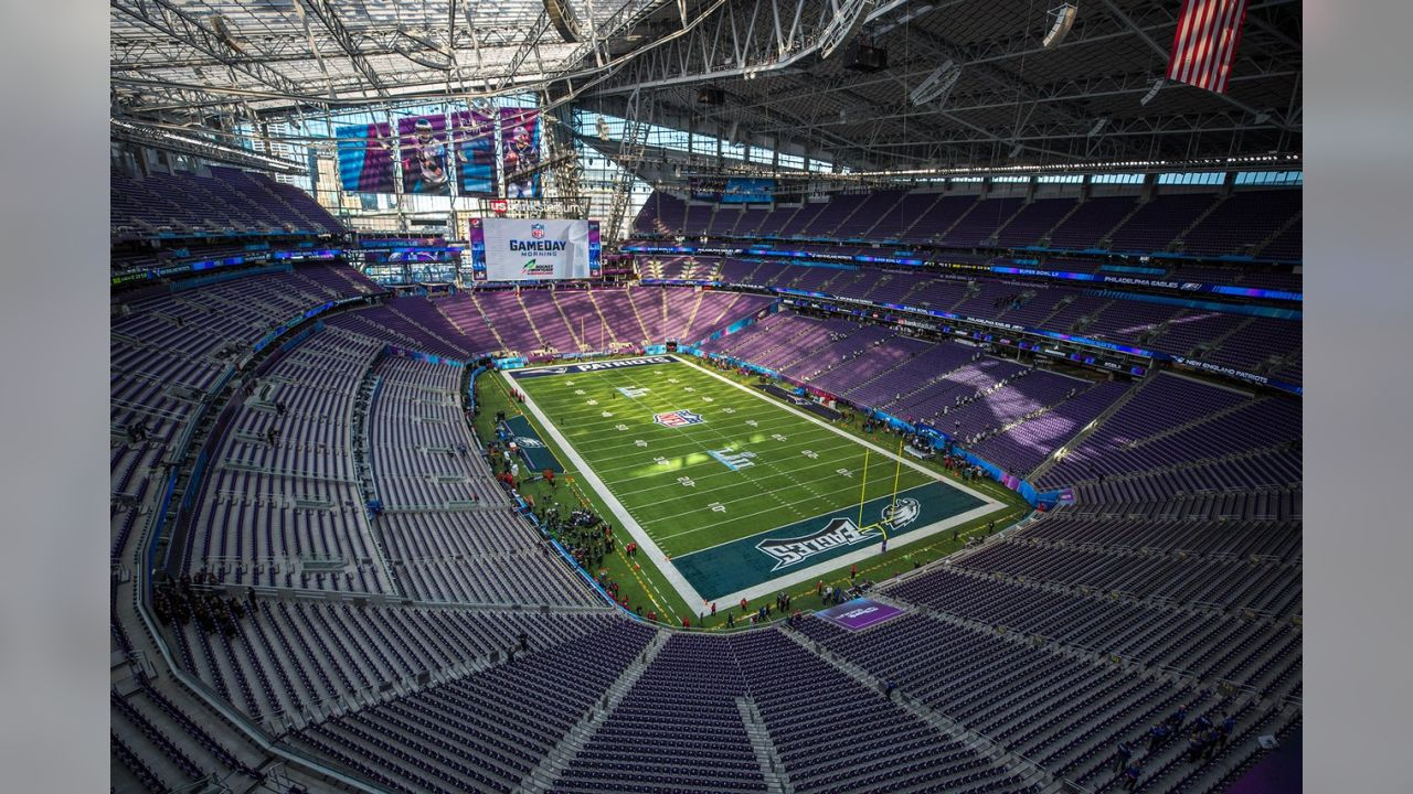 U.S. Bank Stadium prior to Super Bowl LII