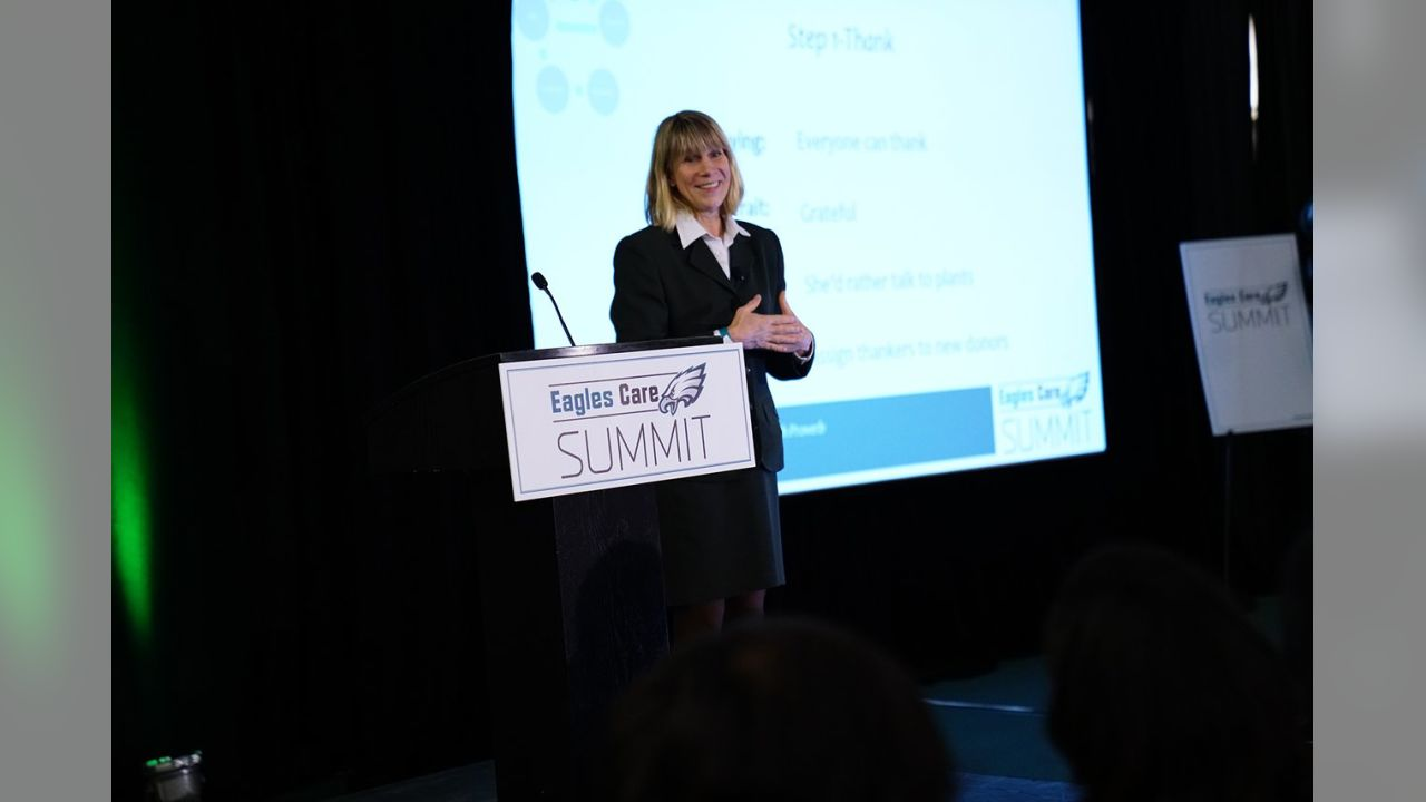 On April 11, the fourth annual Eagles Care Summit brought together representatives from nearly 100 localnon-profits.