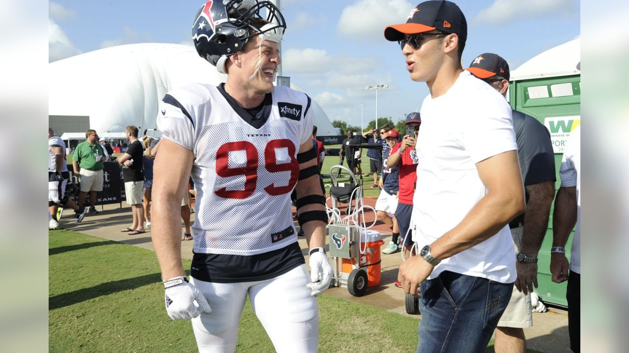 J.J. Watt and Carlos Correa, August 2015