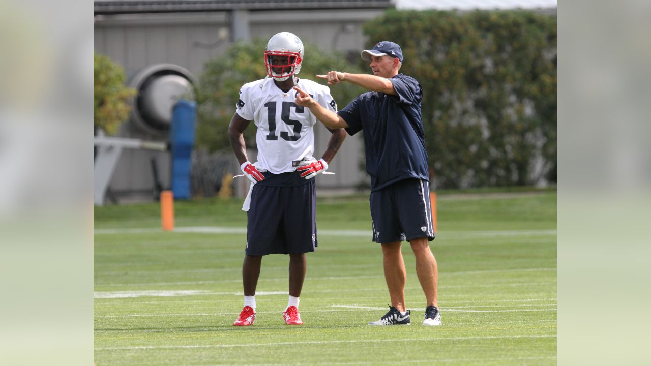 separation shoes c6ed8 5e7db Reggie Wayne's first day in a Patriots uniform
