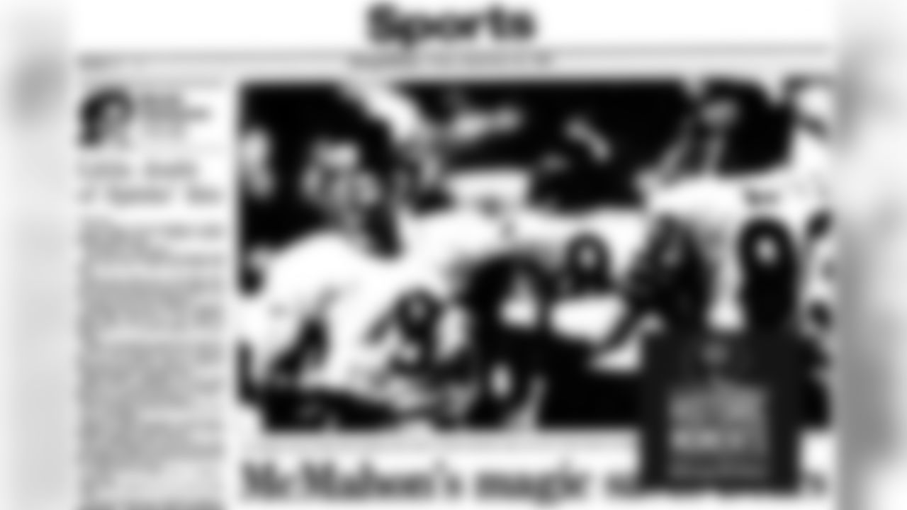 The front of the sports page of the Chicago Tribune on September 20, 1985. Bears Historic Moments - Chicago Tribune