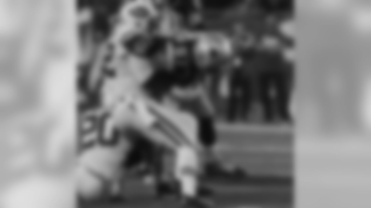 """""""The Hitman"""" is just two tackles shy of becoming just the fourth Jet to be credited with 1,000 career tackles. He's the main communicator for the defense, just one of the reasons defensive coordinator Dennis Thurman is appreciative of having Harris on his side: """"David has played well. He's been a leader. He's been consistent. He's tackled well. He's improved in his pass coverage — except for last week when he dropped the interception, but we've forgiven him. He's become what we always thought he could be: a leader on our defense, a consistent guy that has manned the middle for us, has been good against the run and pass. I don't think we could've asked any more of David than he's given us."""""""