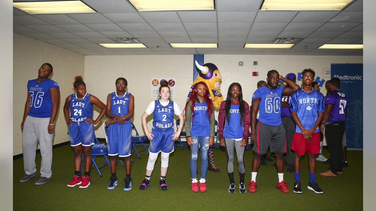 Vikings, Medtronic Team Up to Revamp High School Weight Room