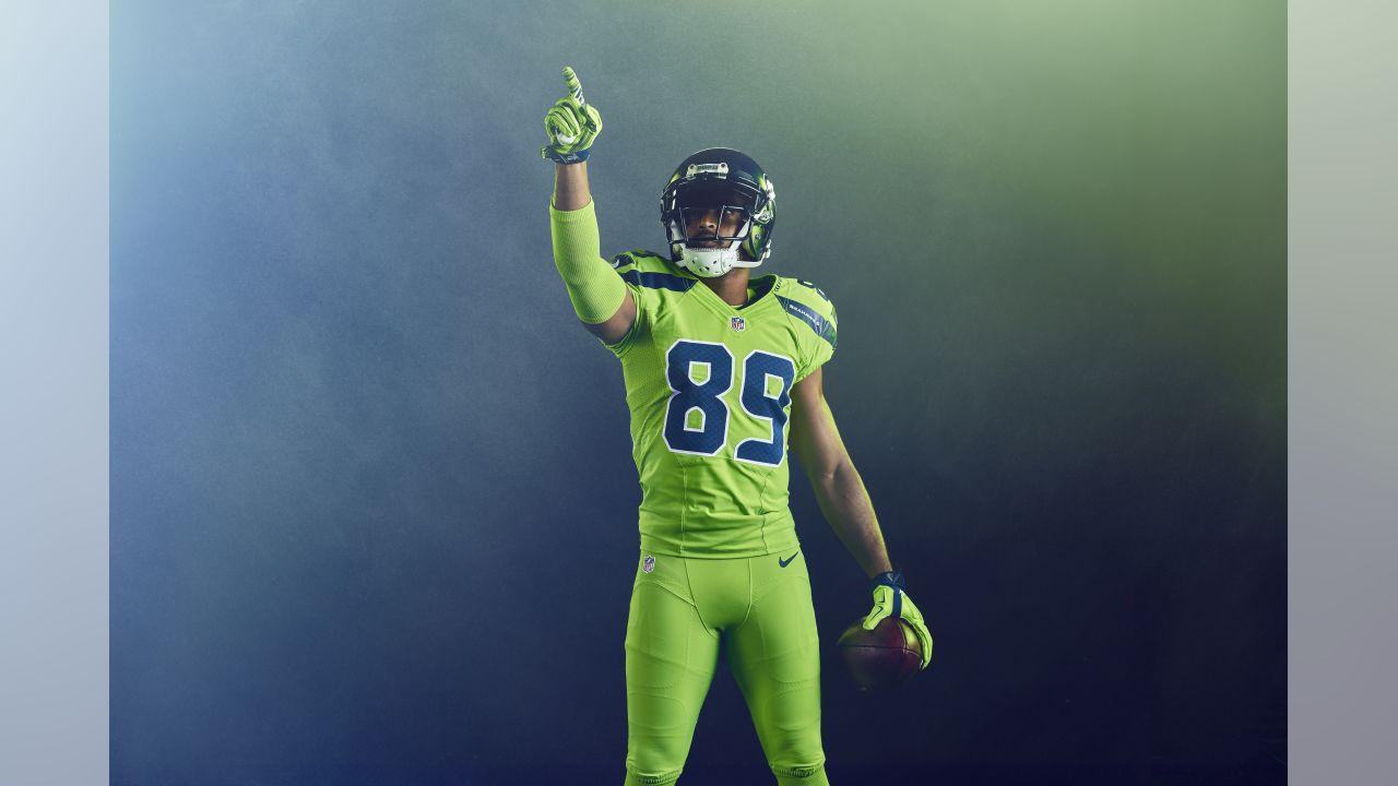 78be0ce1d Seattle Seahawks Unveil Action Green Color Rush Uniform