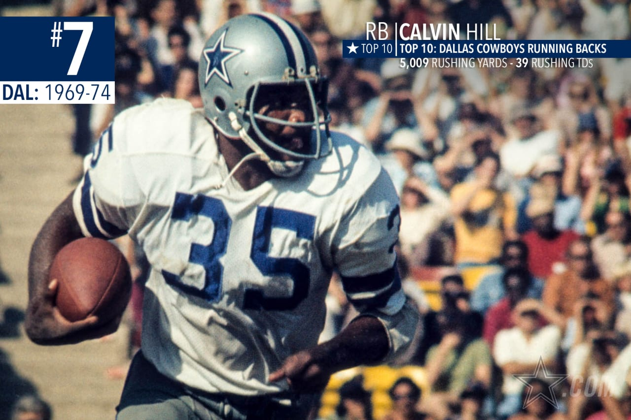 Most tend to forget just how good Calvin Hill was during his six seasons with the Cowboys, leading them in rushing four times, and an integral part in leading the Cowboys to their first Super Bowl victory in 1971.