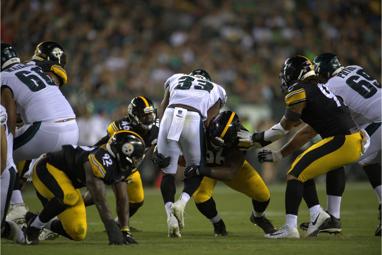 A 2018 Preseason game between the Pittsburgh Steelers and the Philadelphia Eagles on Thursday August 9th 2018.