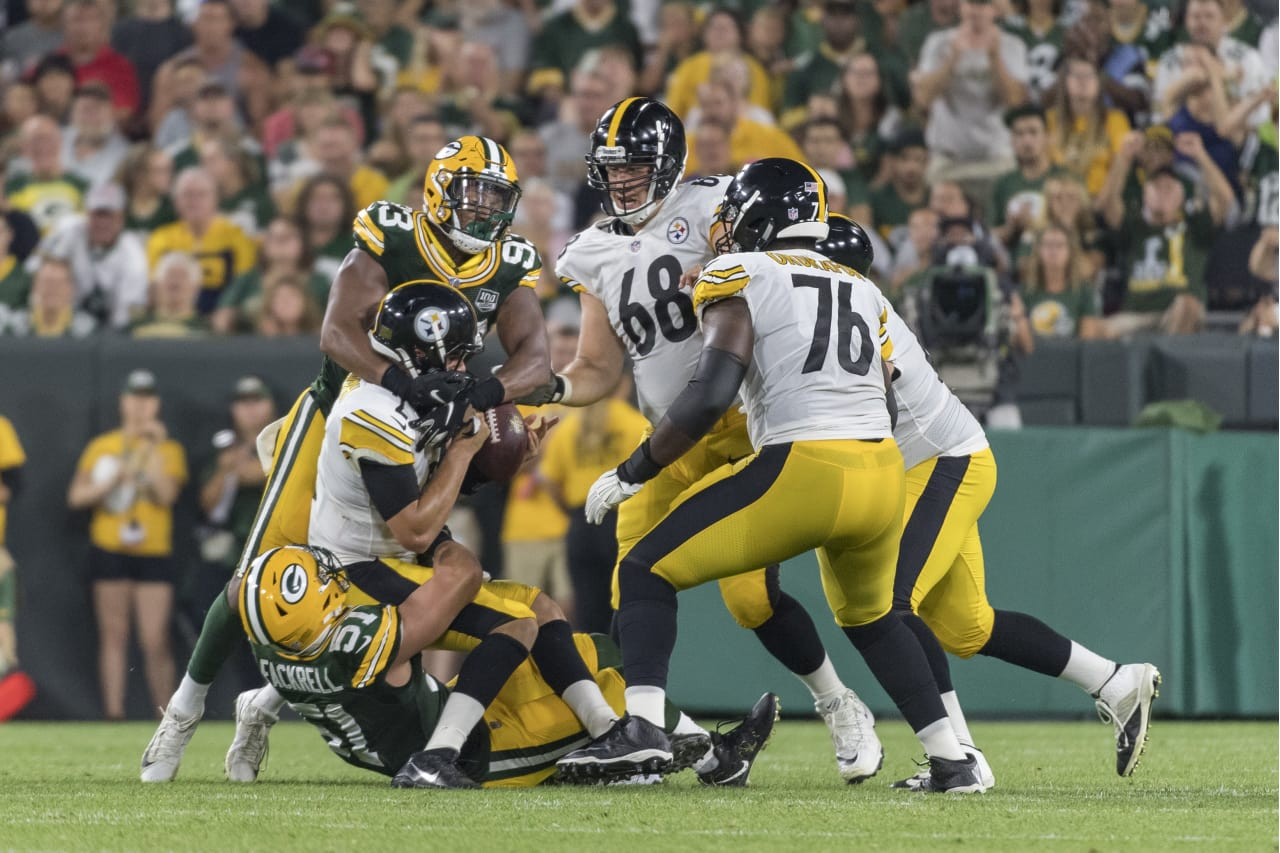 A 2018 Preseason game between the Pittsburgh Steelers and the Green Bay Packers on Thursday August 16, 2018.