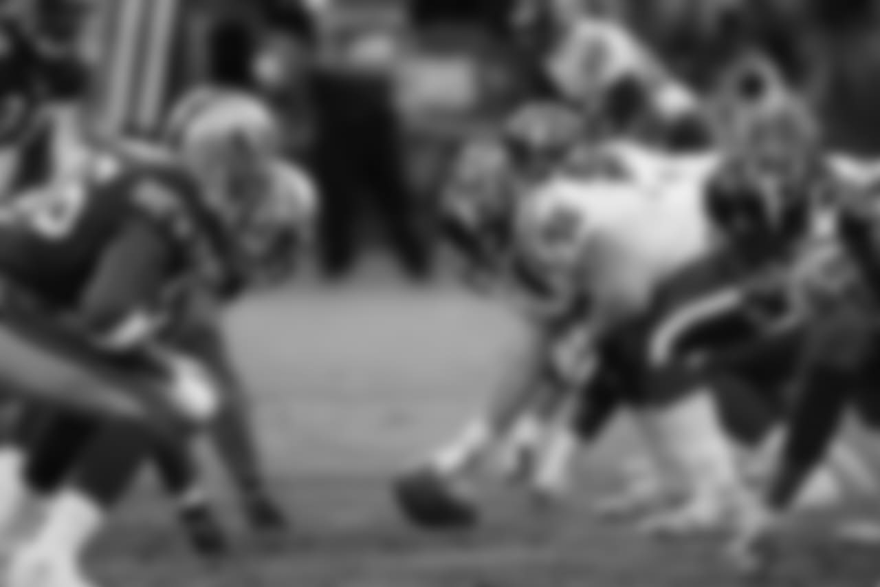 Jan. 1, 2006 -- The line of scrimmage.
