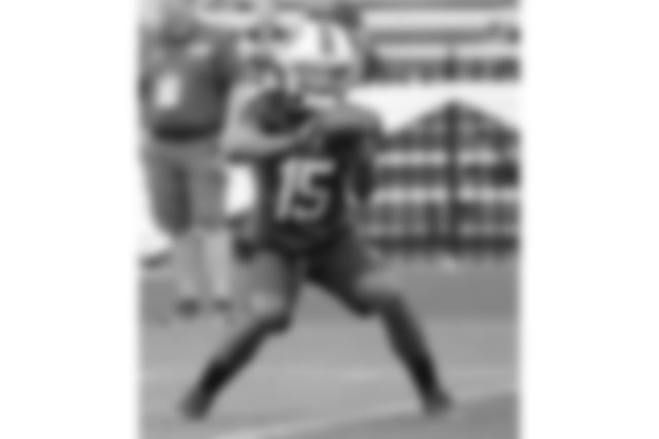 Buffalo Bills wr Kaelin Clay #15   - 2018 Buffalo Bills Training Camp at St. John Fisher College.  Photo by Bill Wippert  August 7, 2018